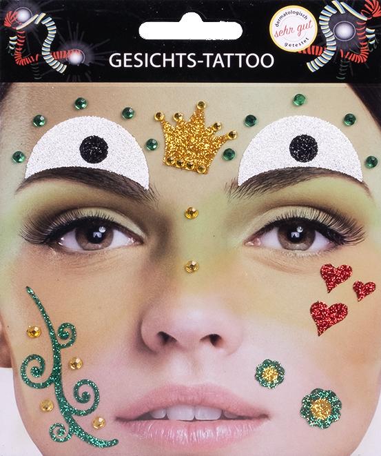 Gesichts-Tattoo Frosch