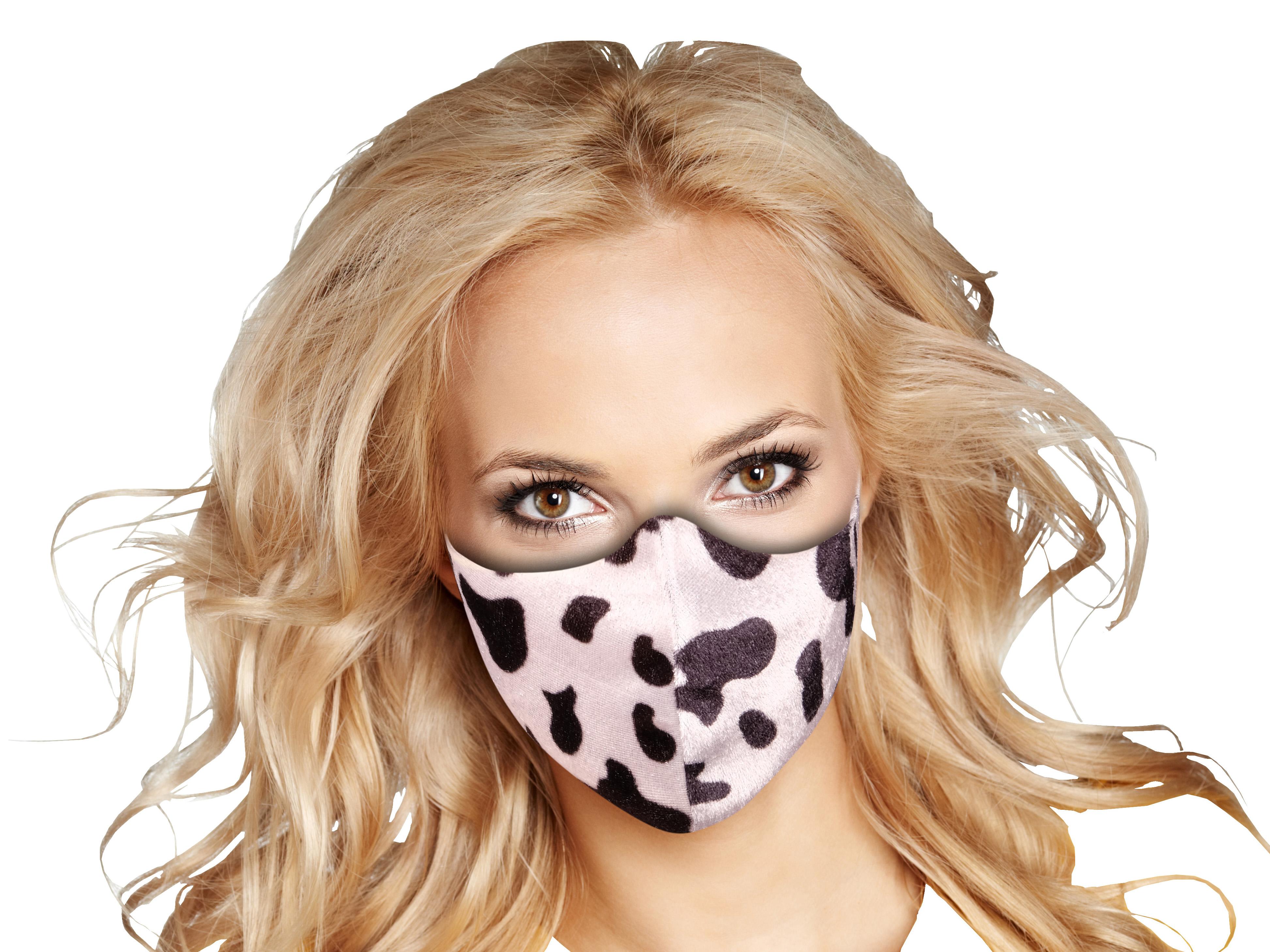 Stoffmaske mit Kuh-Muster