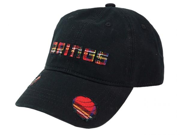 BRINGS Cap used Look schwarz karo