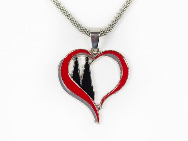 Halskette Herz mit Domspitzen