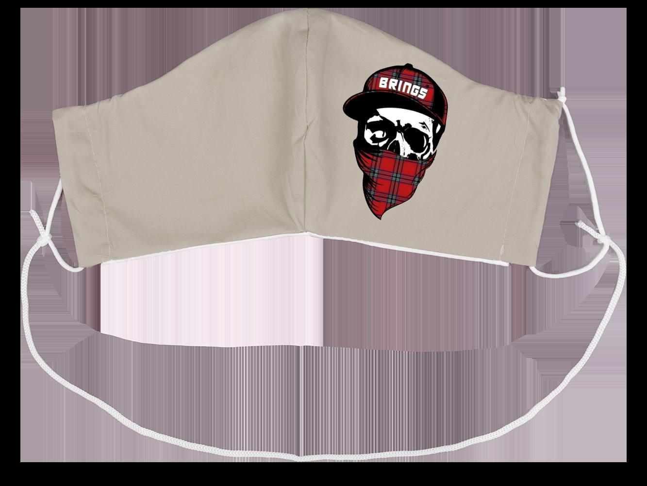 BRINGS Stoffmaske Totenkopf