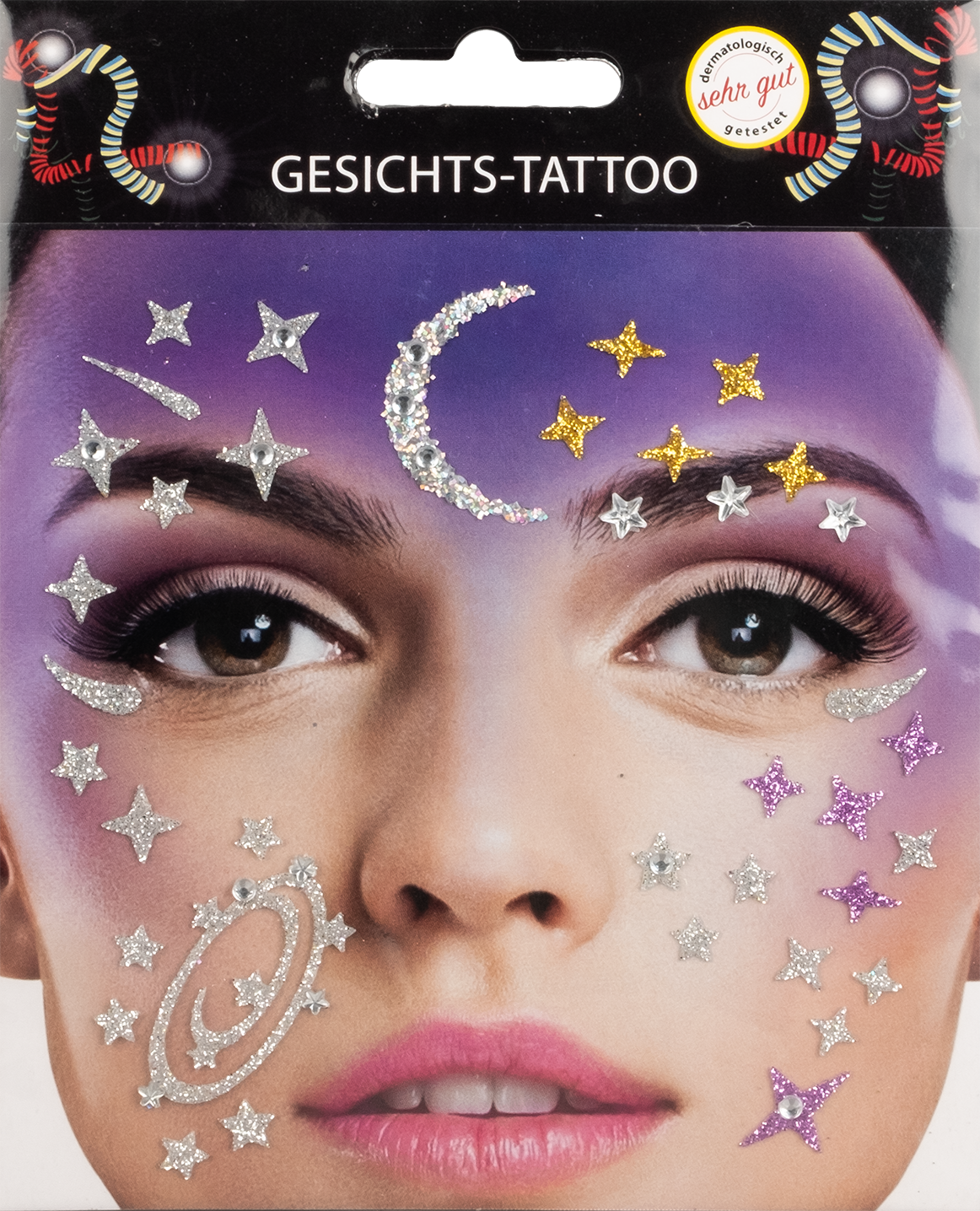 Gesichts-Tattoo Galaxy