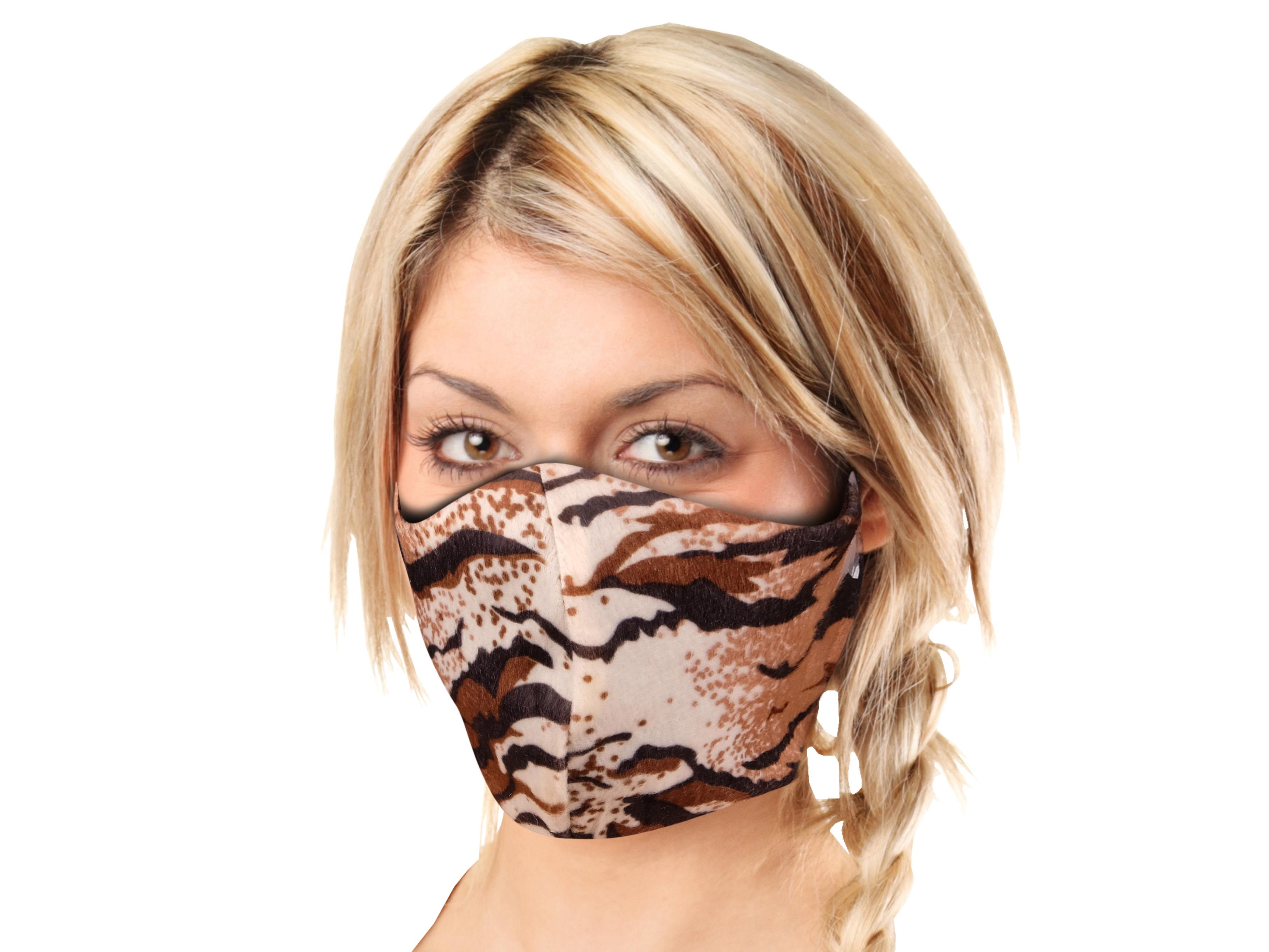 Stoffmaske mit Tiger-Muster