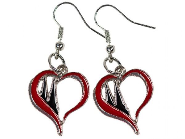 Ohrhänger Herz mit Domspitzen