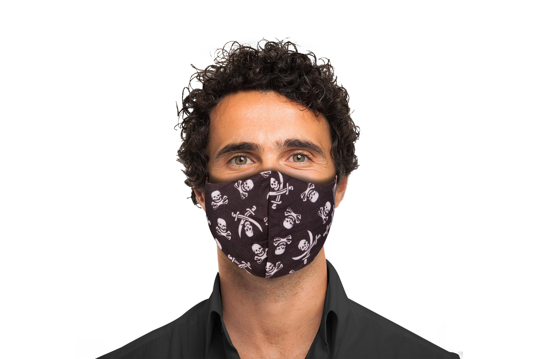 Stoffmaske mit Totenkopf-Muster