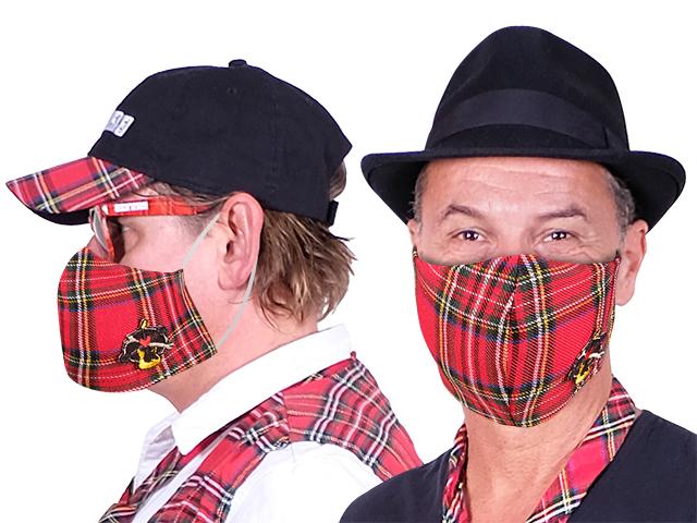 BRINGS Mund-Nase-Maske aus Stoff mit gesticktem Logo