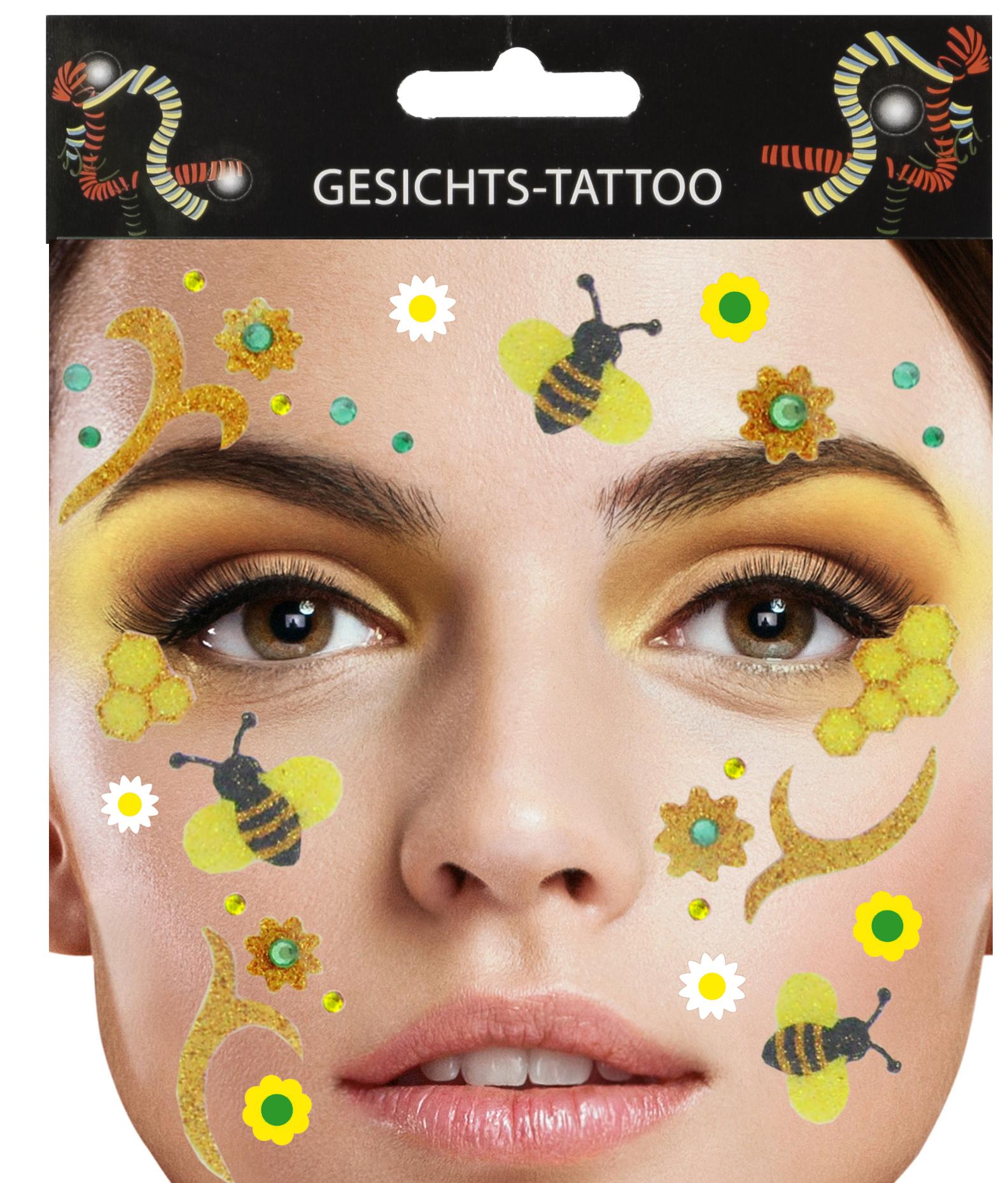 Gesichts-Tattoo Biene