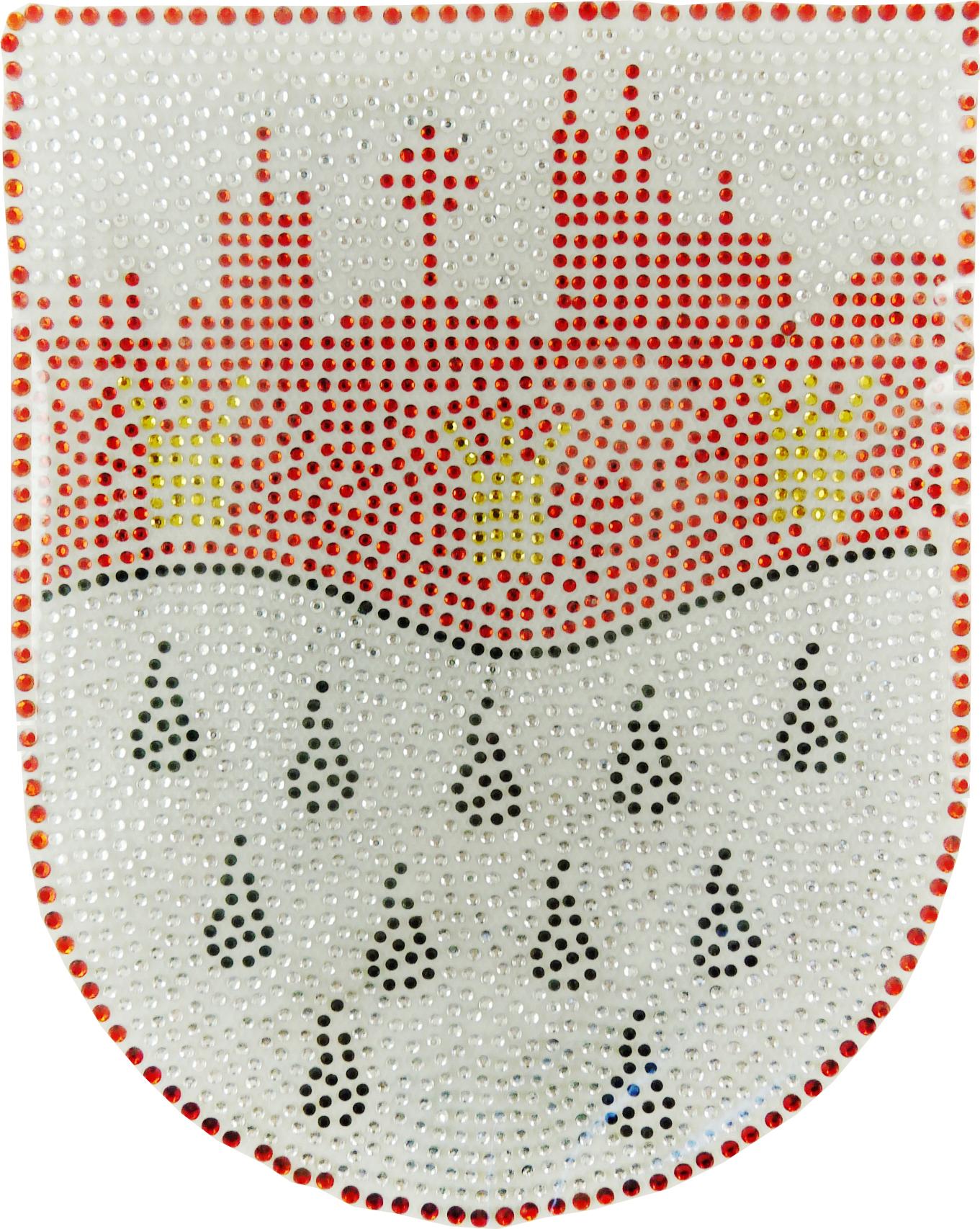 Strass Bügelbild Köln Wappen Skyline Welle