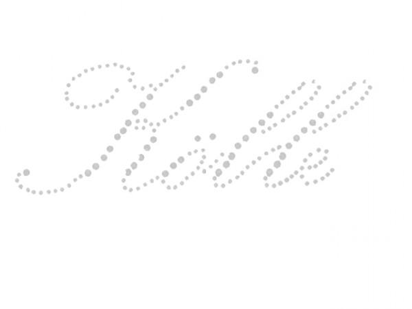 Strass Bügelbild Kölle Schriftzug