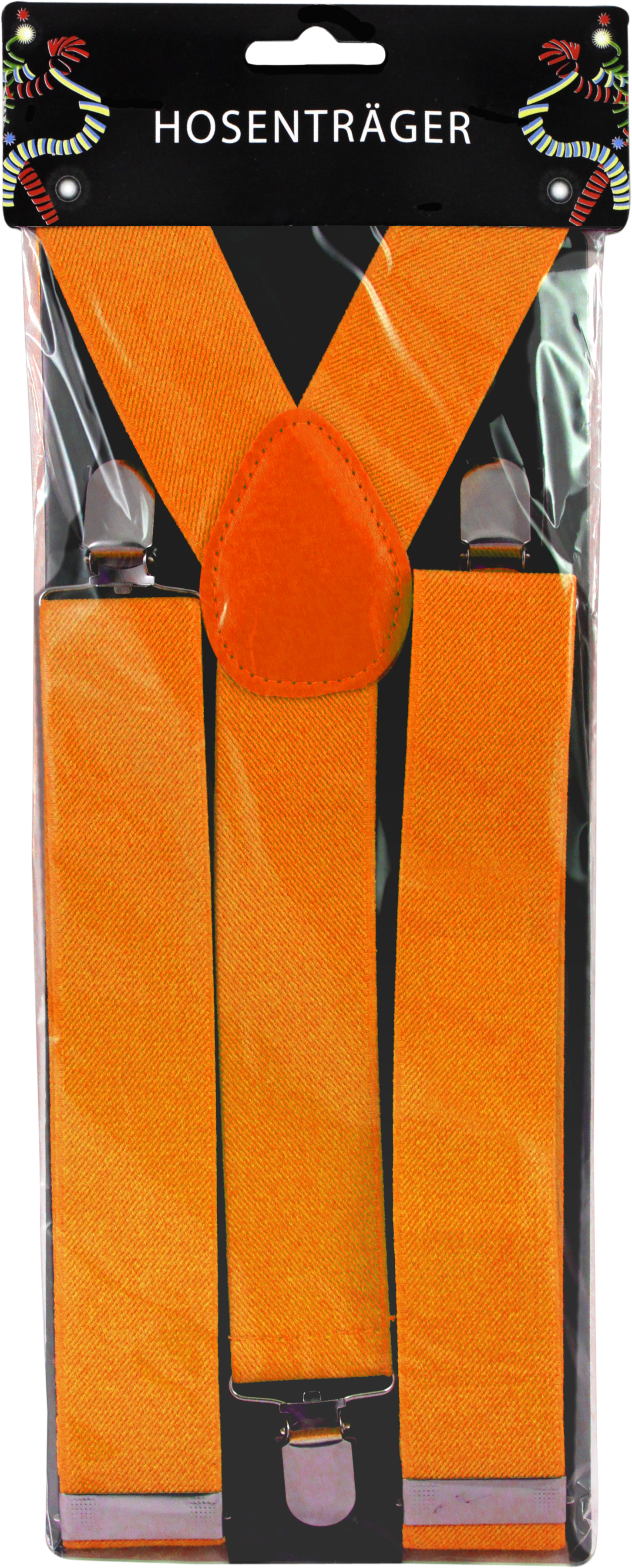 Hosenträger breit neon orange