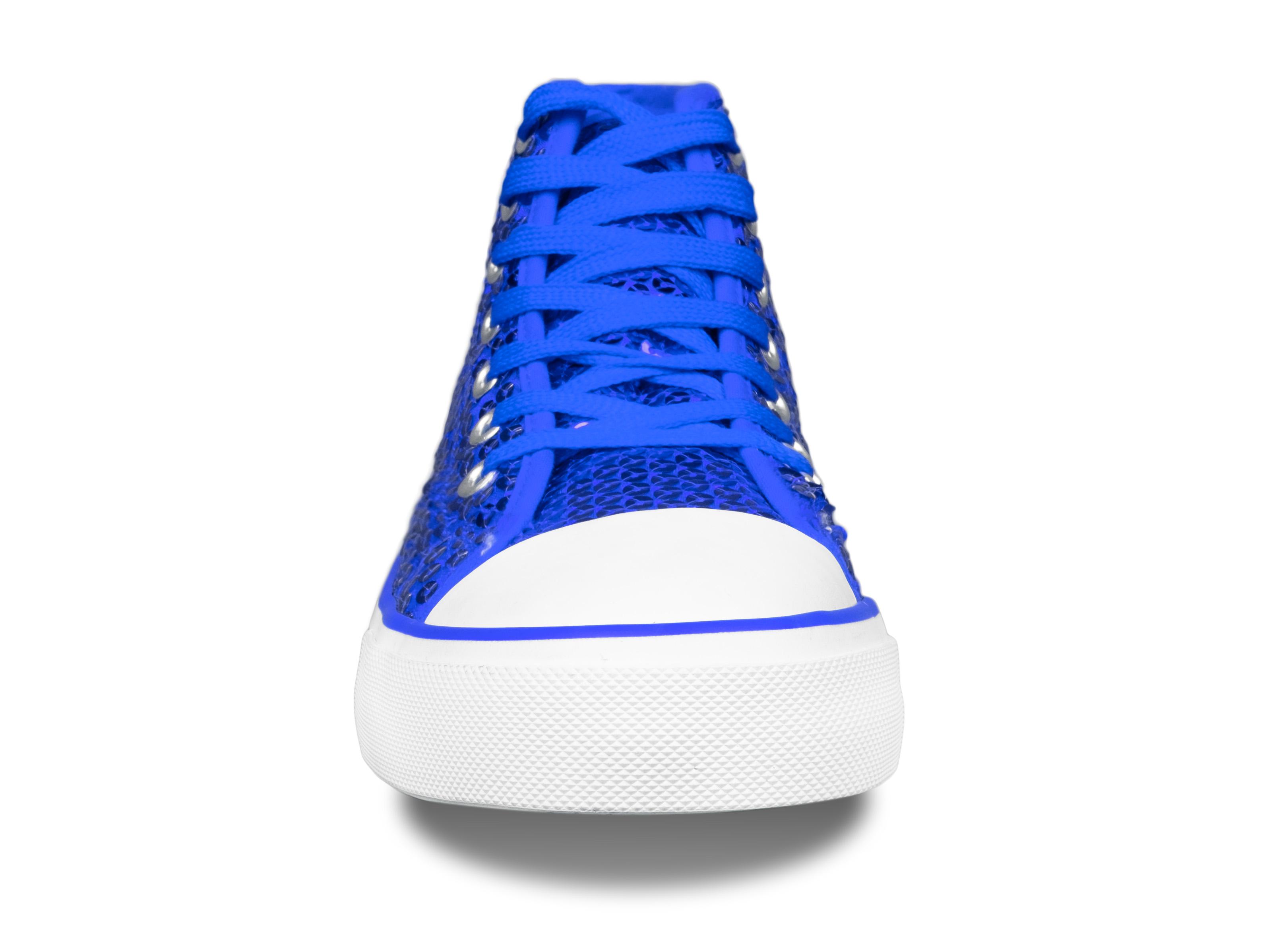 Paillettenschuh blau Gr. 36