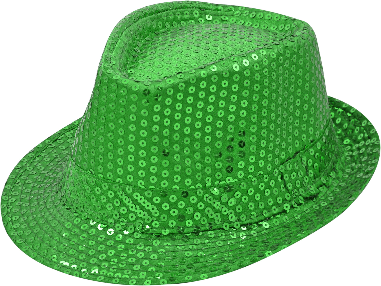 Pailletten-Hut dunkelgrün