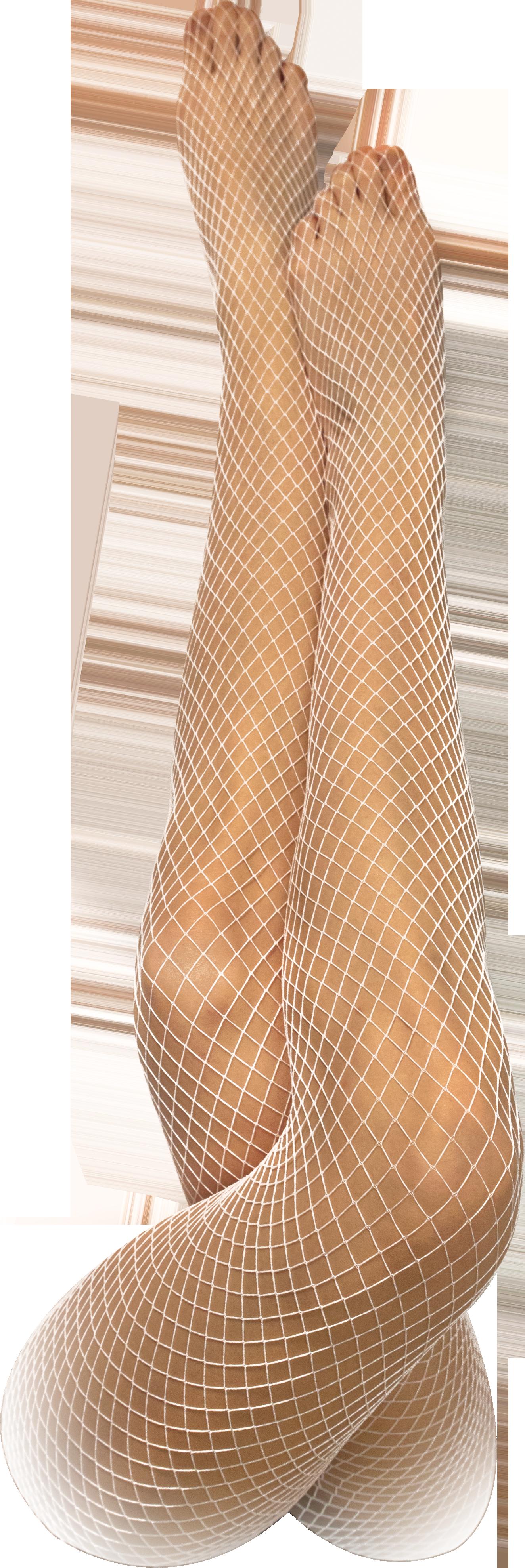 Netzstrumpfhose weiß