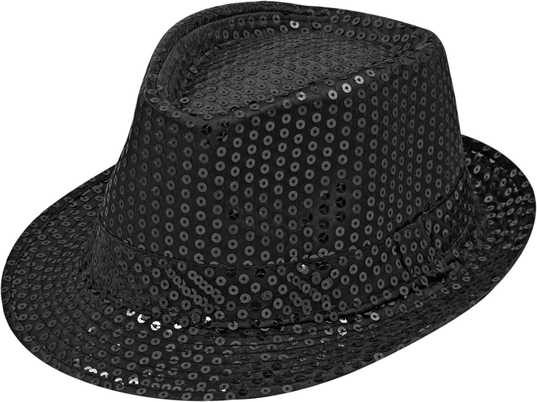 Pailletten-Hut schwarz