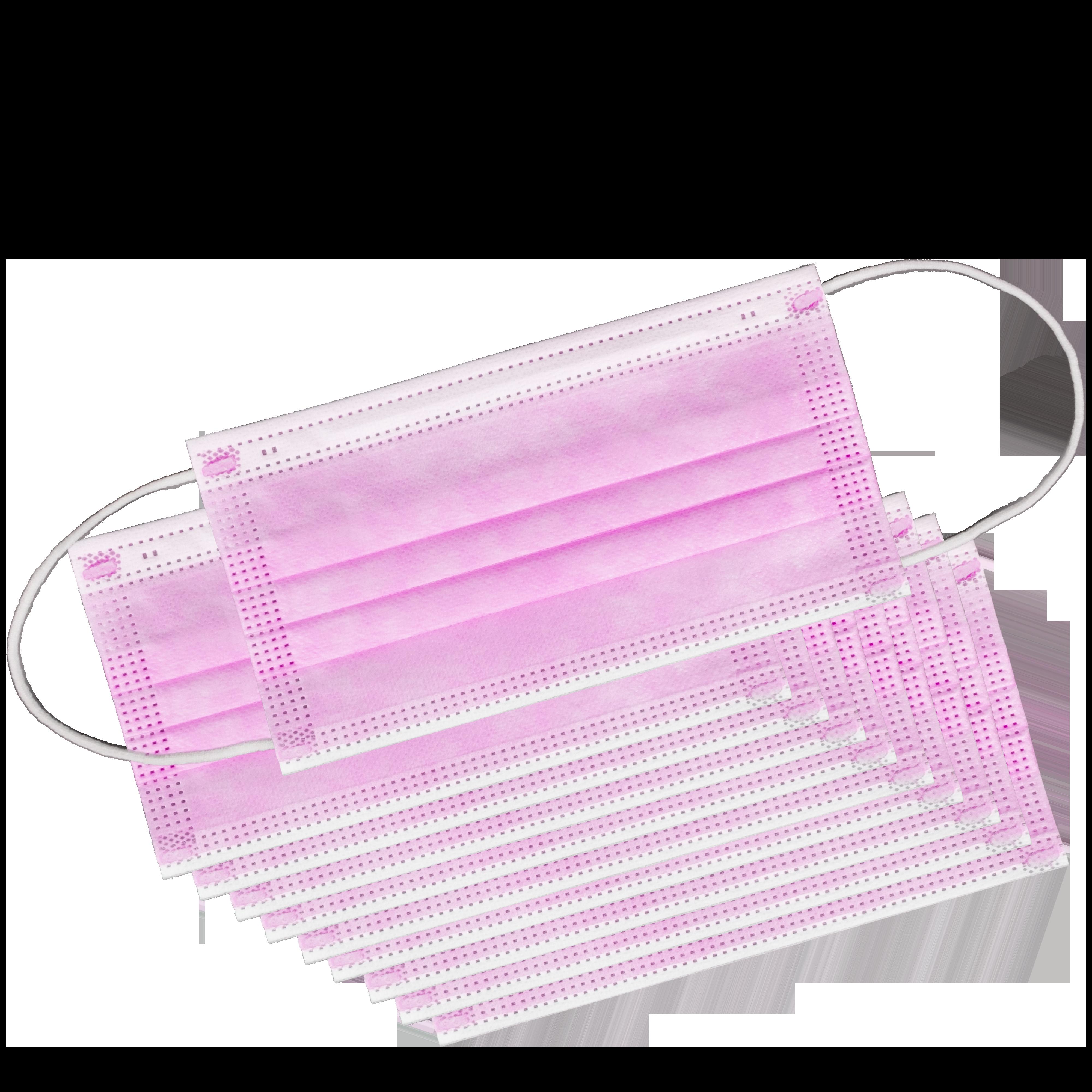 -> MNS 3-lagig Einwegmaske 10er Paket rosa