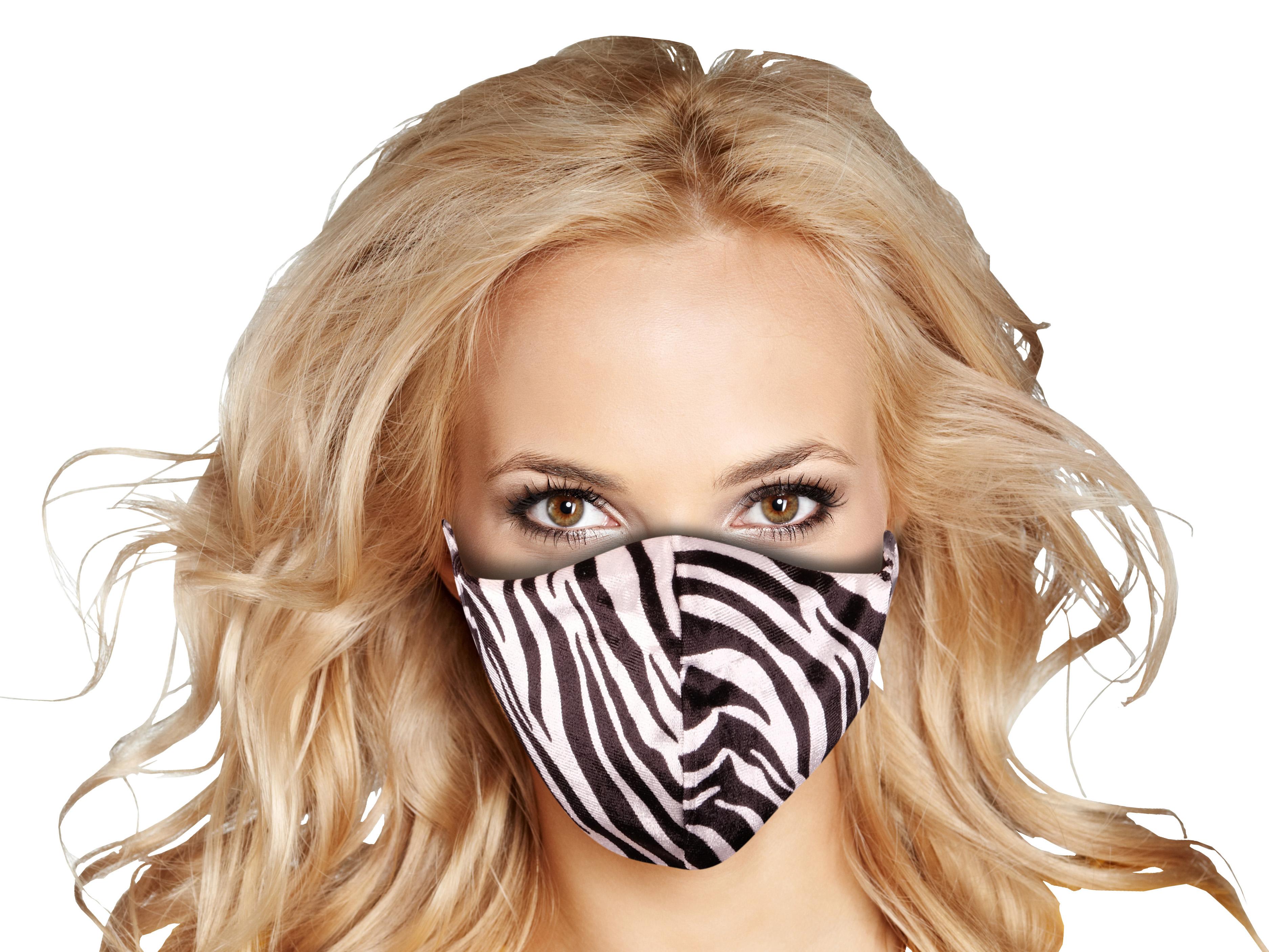 Stoffmaske mit Zebra-Muster