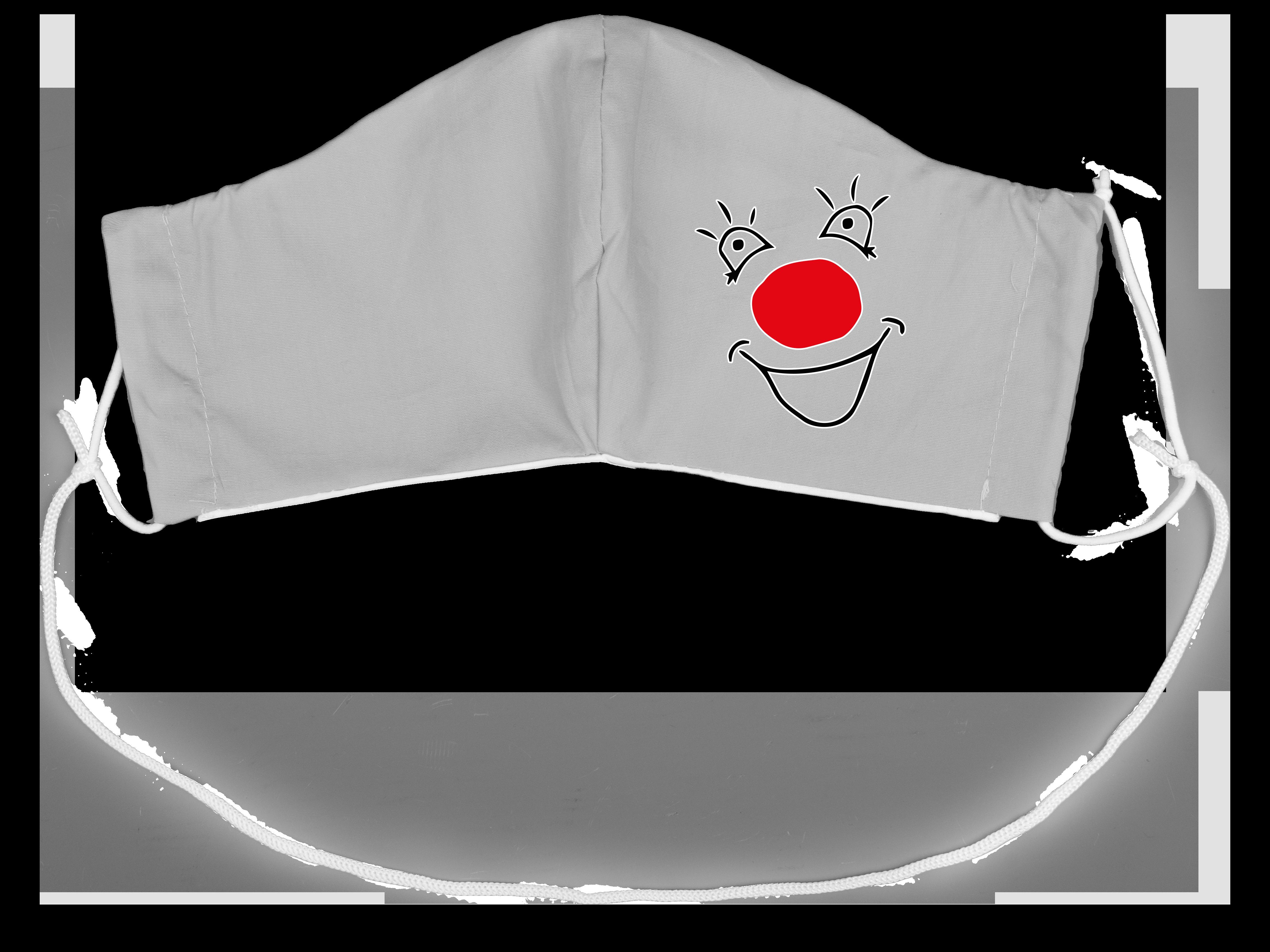 Stoffmaske Clowngesicht