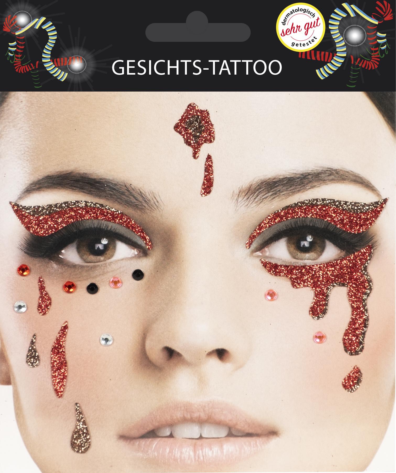 Gesichts-Tattoo Halloween Träne