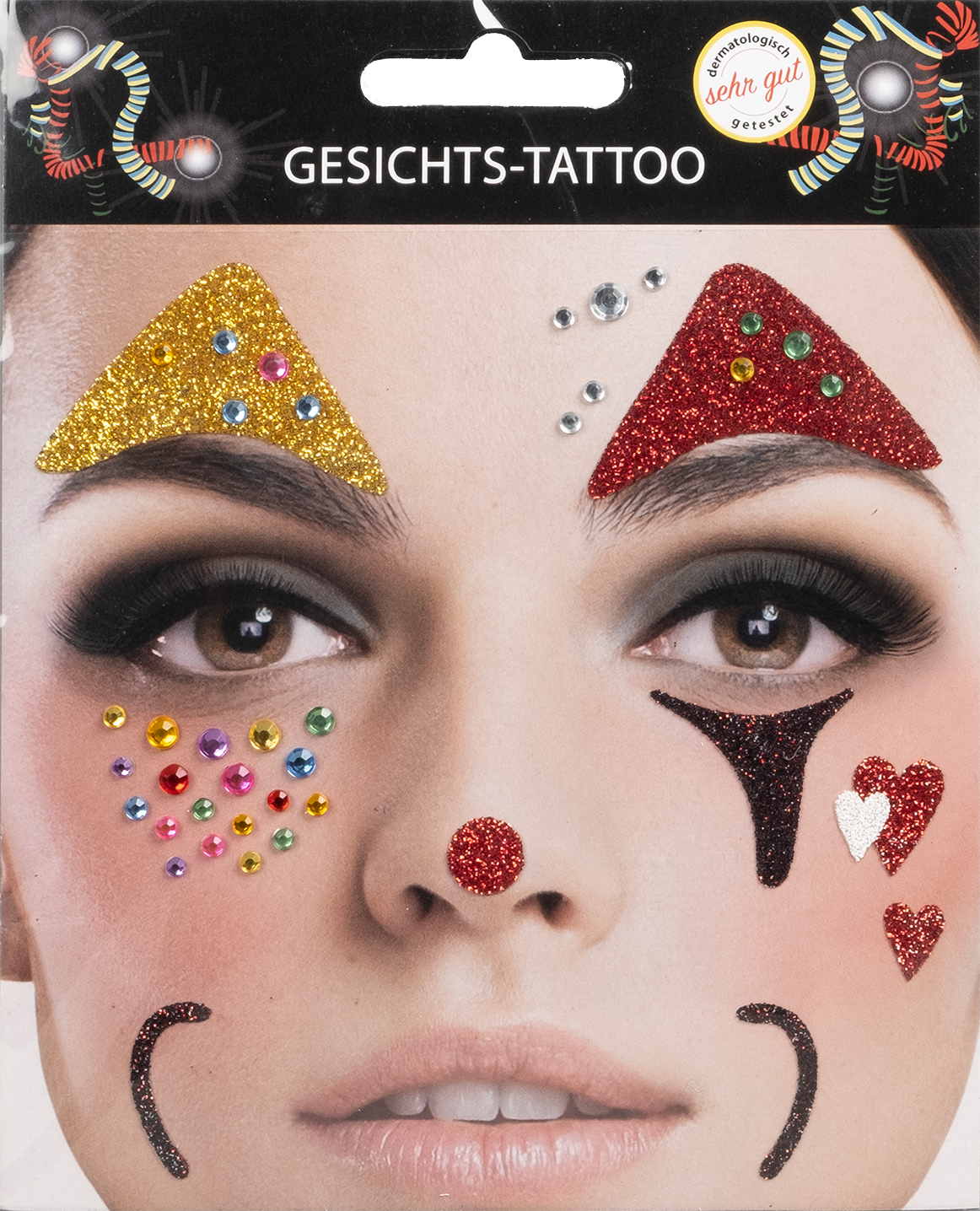 Gesichts-Tattoo Clown