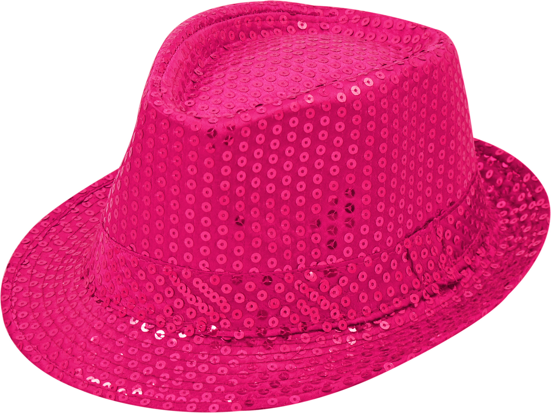 Pailletten-Hut pink