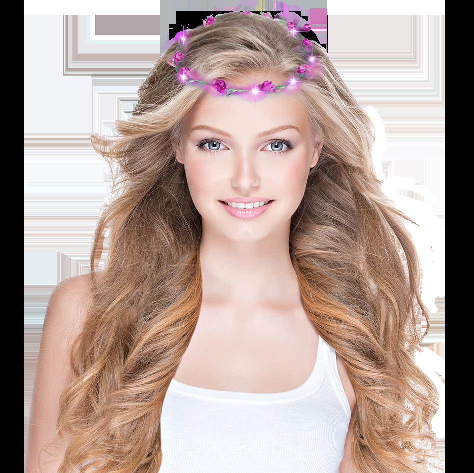 Haarkranz LED mit Rosen