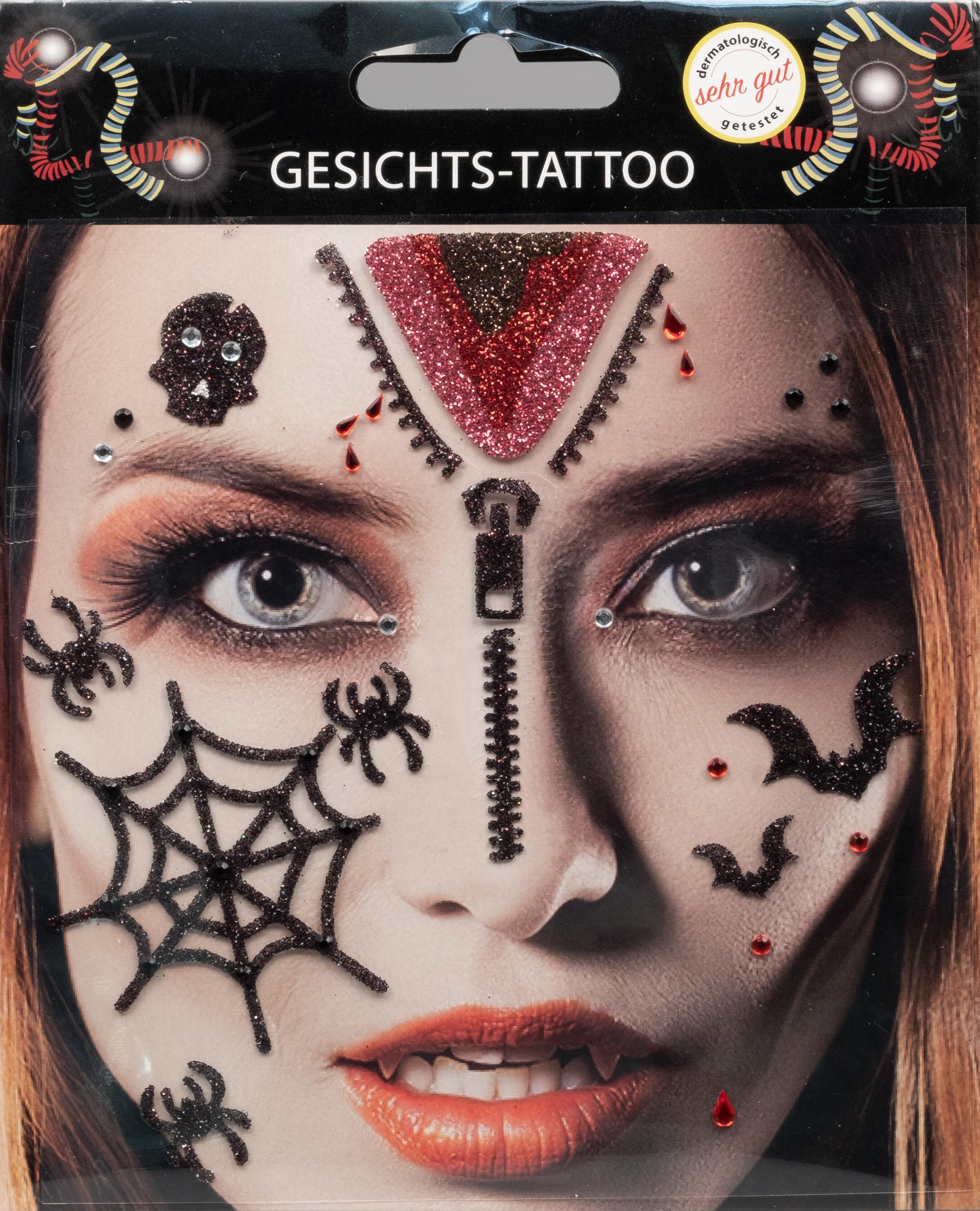 Gesichts-Tattoo Halloween