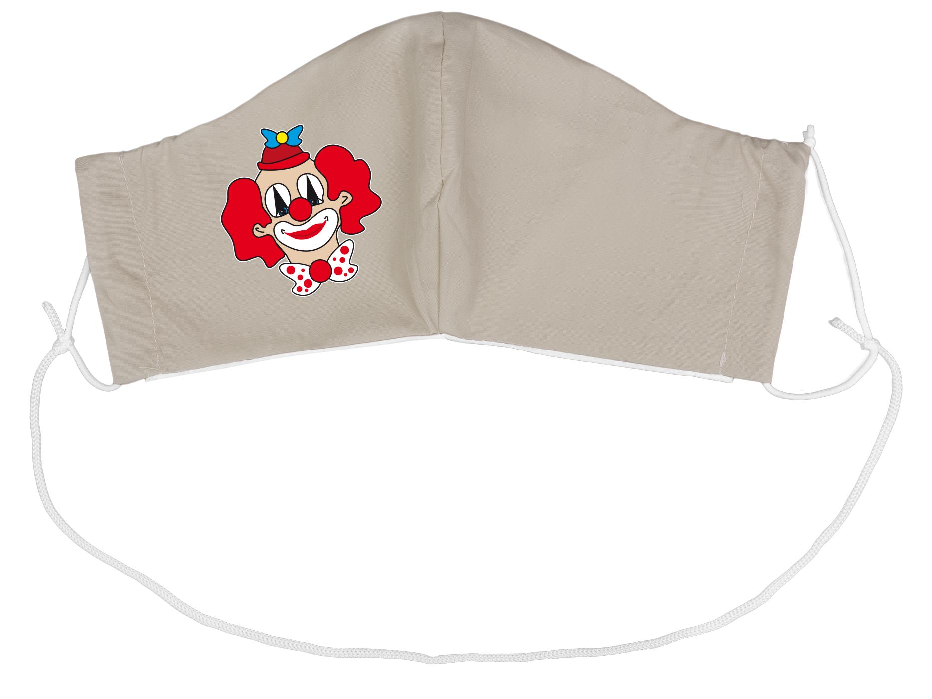 Stoffmaske Clownkopf (groß)