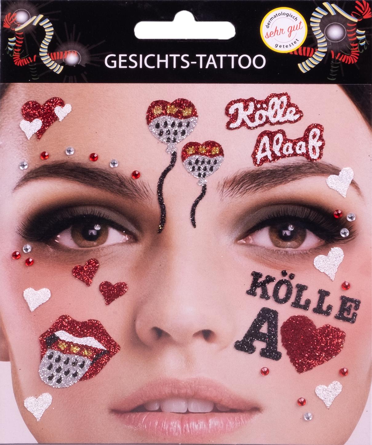 Gesichts-Tattoo Bock op Kölle