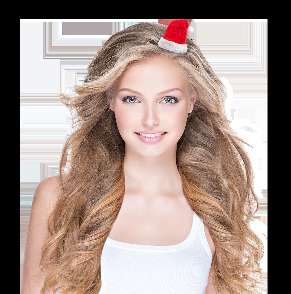 Haarclip Weihnachtsmütze