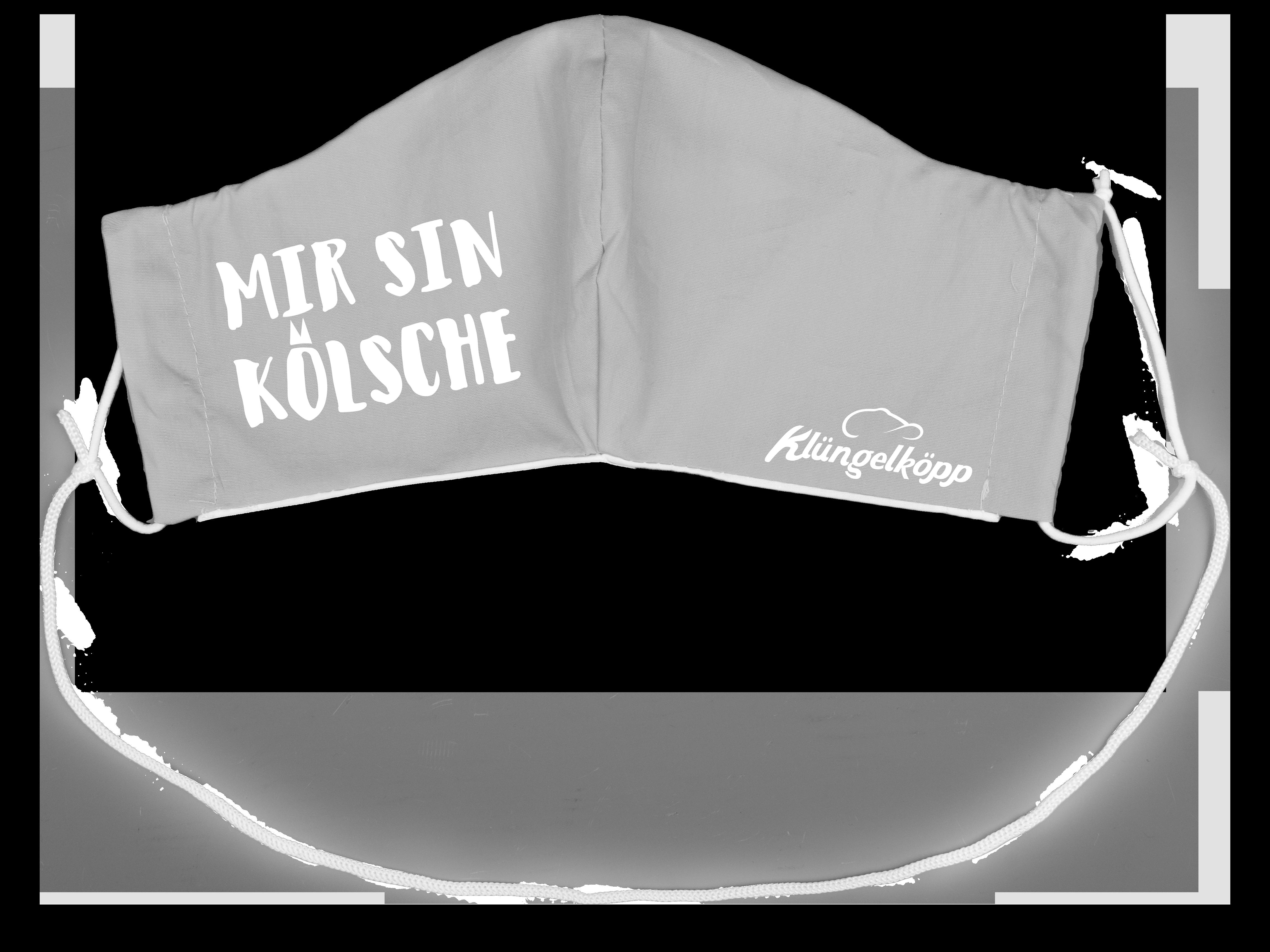 """Klüngelköpp Stoffmaske """"Mir sin Kölsche"""""""