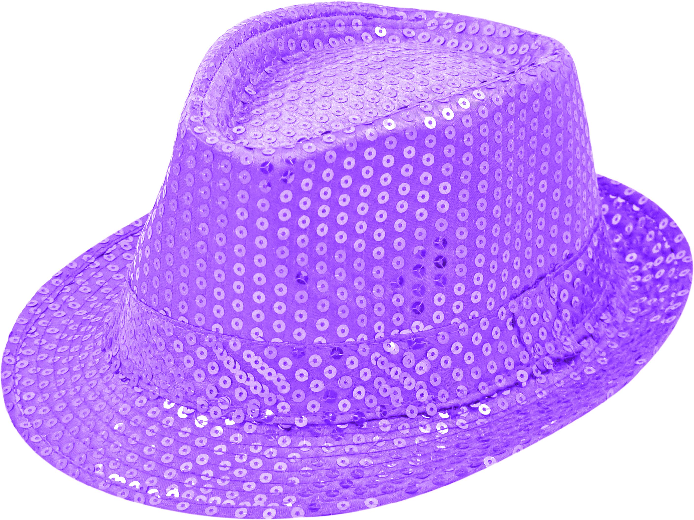 Pailletten-Hut lavendel