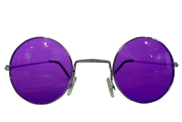 Runde Hippie Brille lila