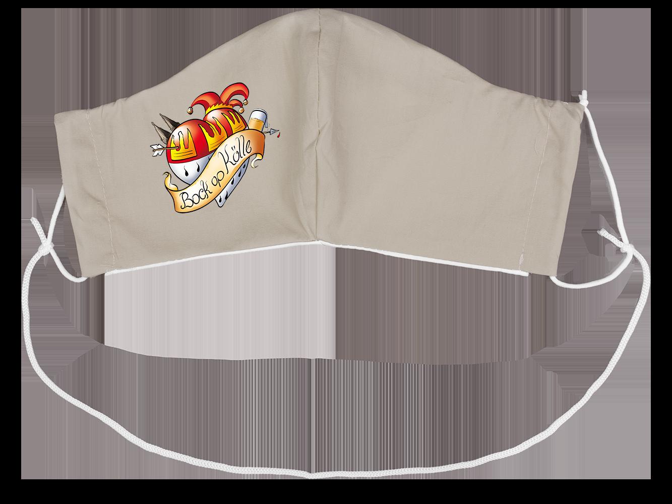 Stoffmaske Bock op Kölle Herz-Wappen