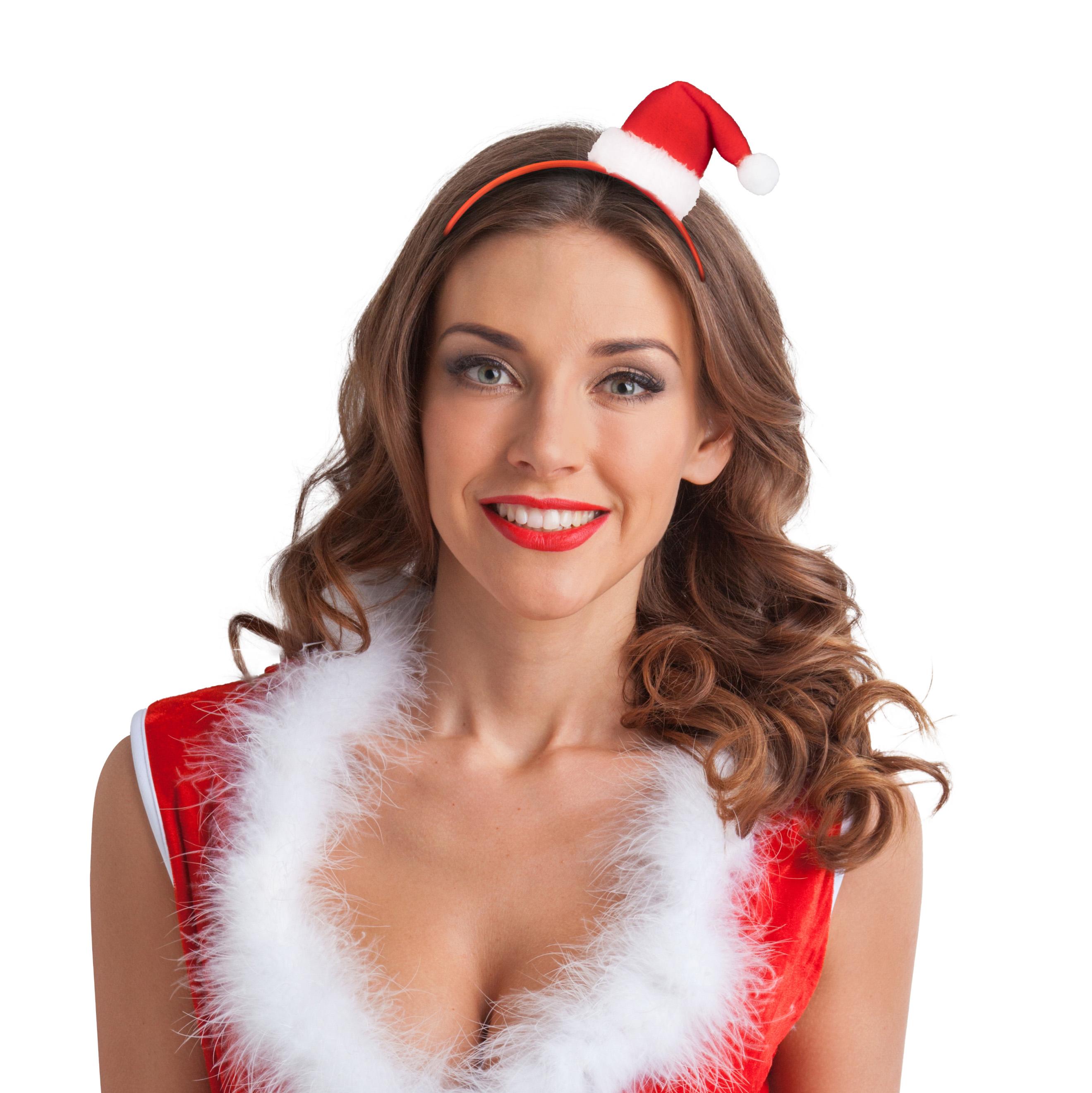 Haarreif Weihnachtsmütze mit Glöckchen