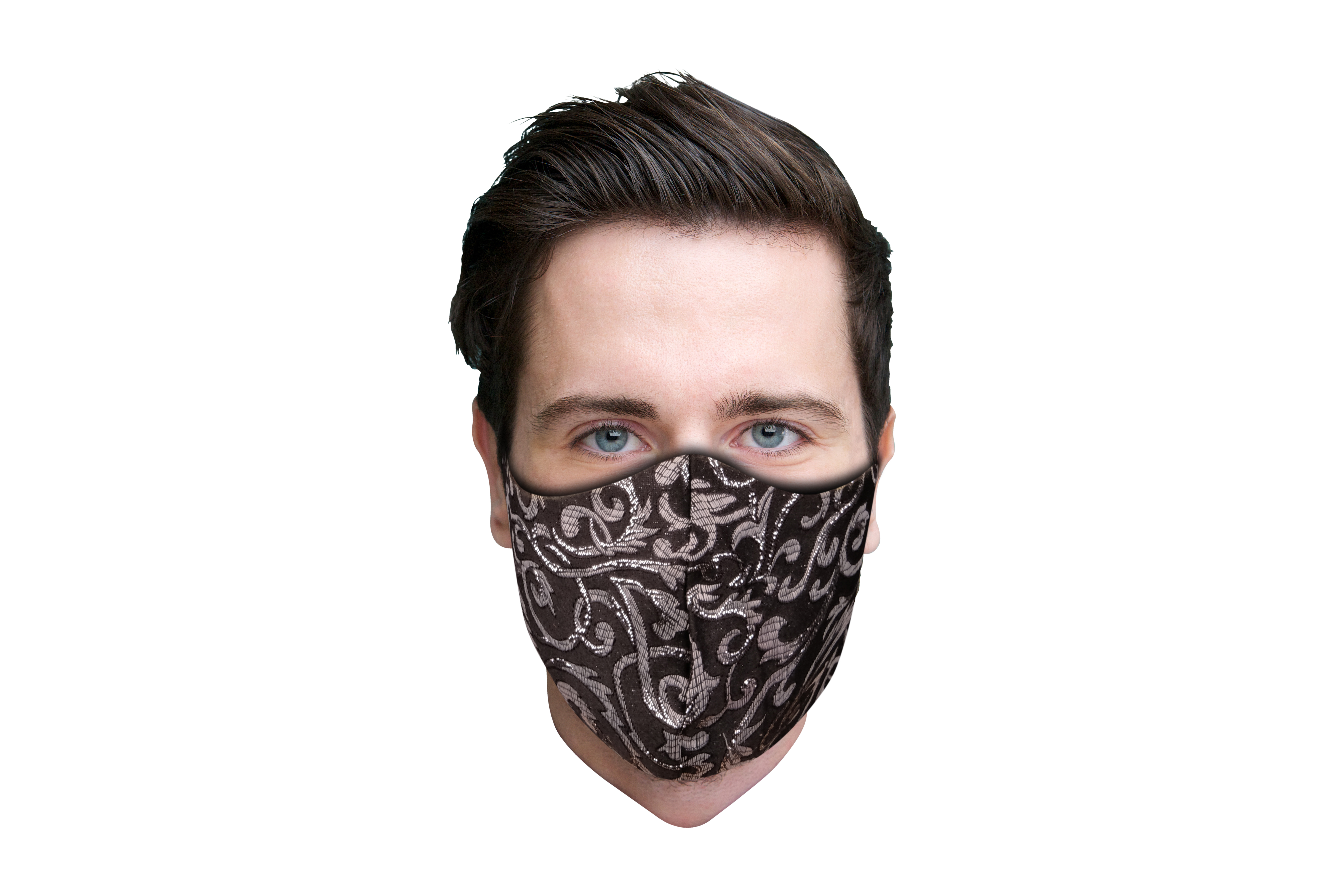 Stoffmaske mit schwarz weißem-Muster