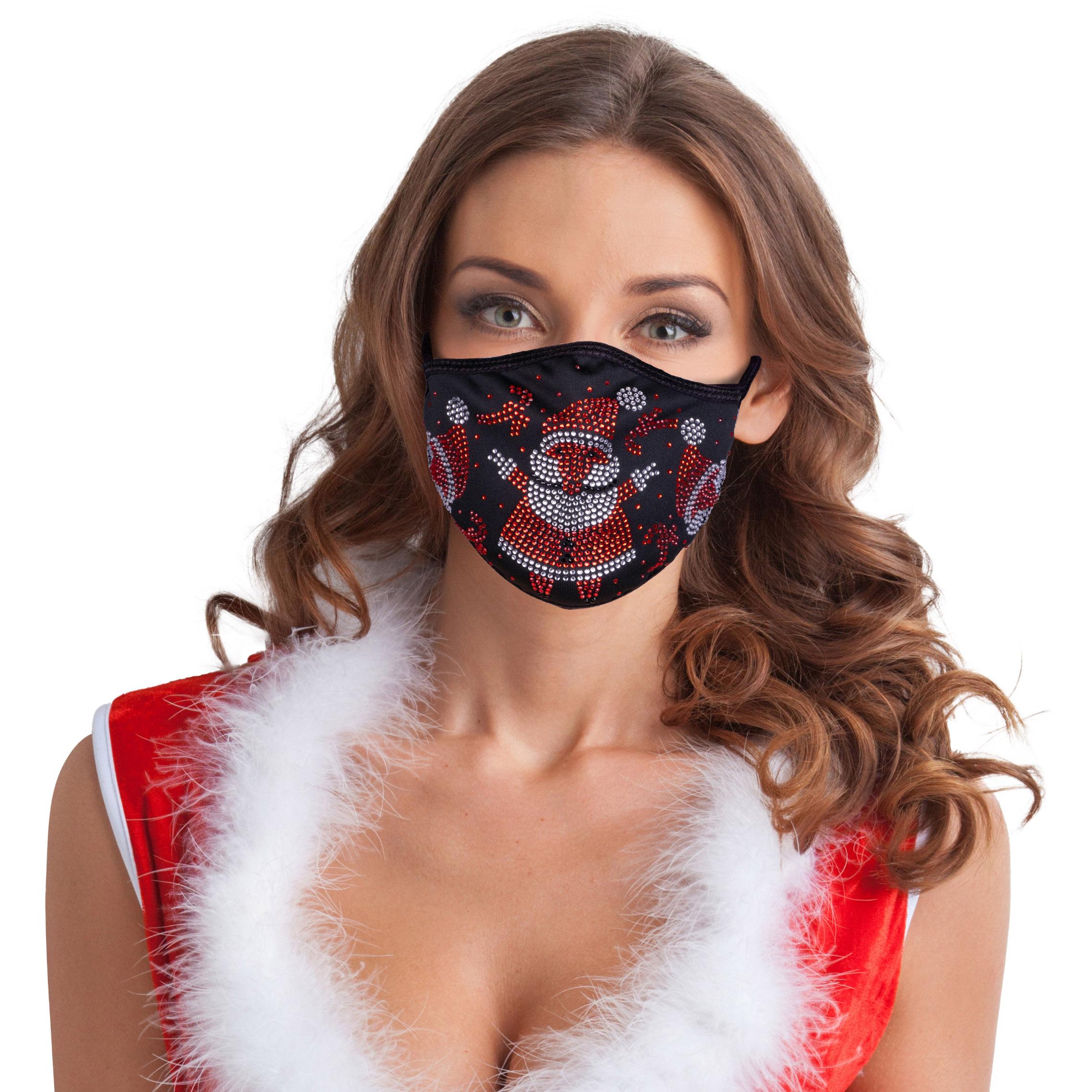 Festtagsmaske Strass Weihnachtsmann