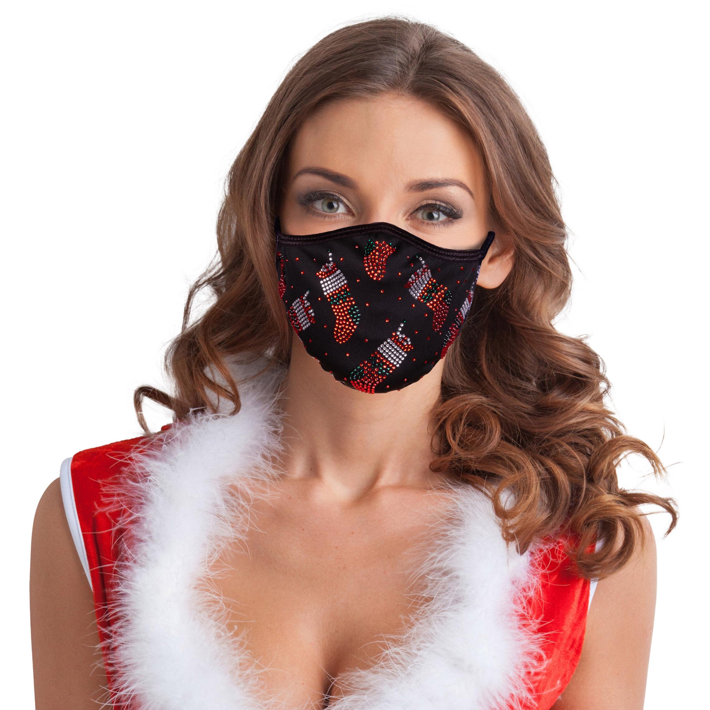 Festtagsmaske Strass Weihnachtsstrumpf