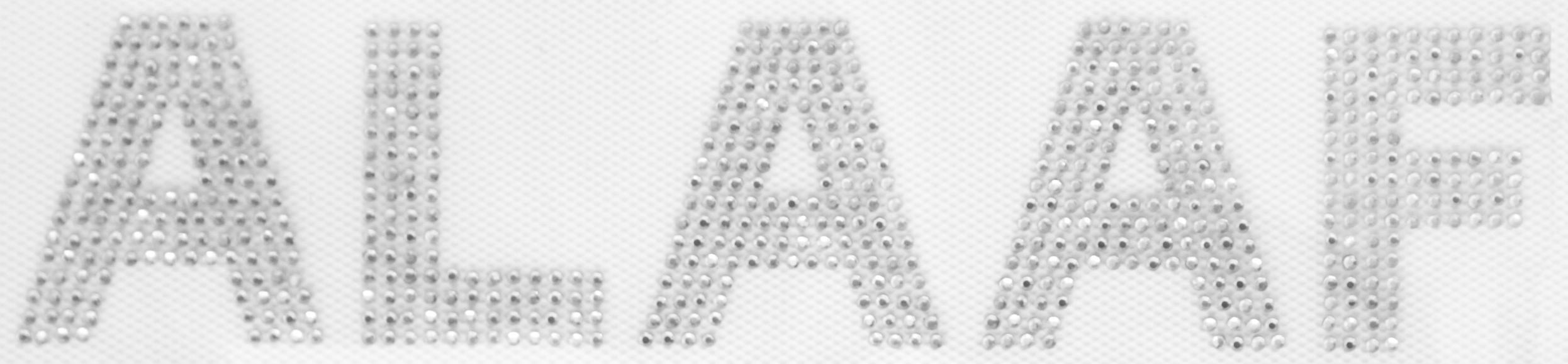 Strass Bügelbild ALAAF 20,5cm silber