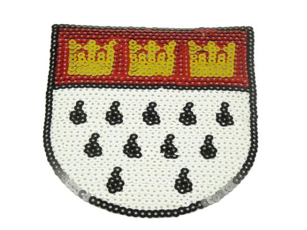 Paillettenbügelbild Wappen - groß