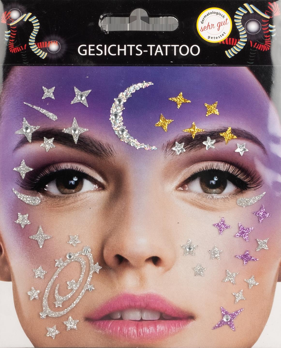 Gesichts-Tattoo Galaxy