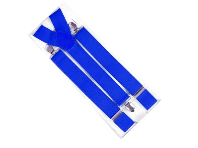Hosenträger breit blau