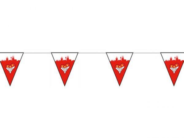 Wimpelkette mit Skyline Herz Wappen