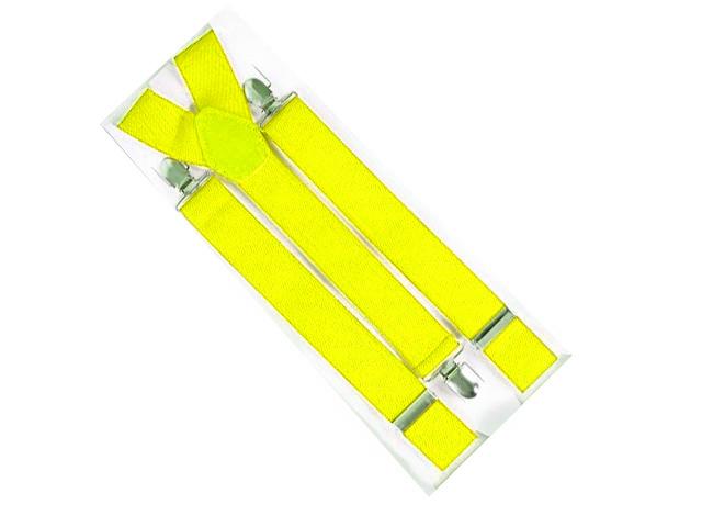 Hosenträger breit neon gelb