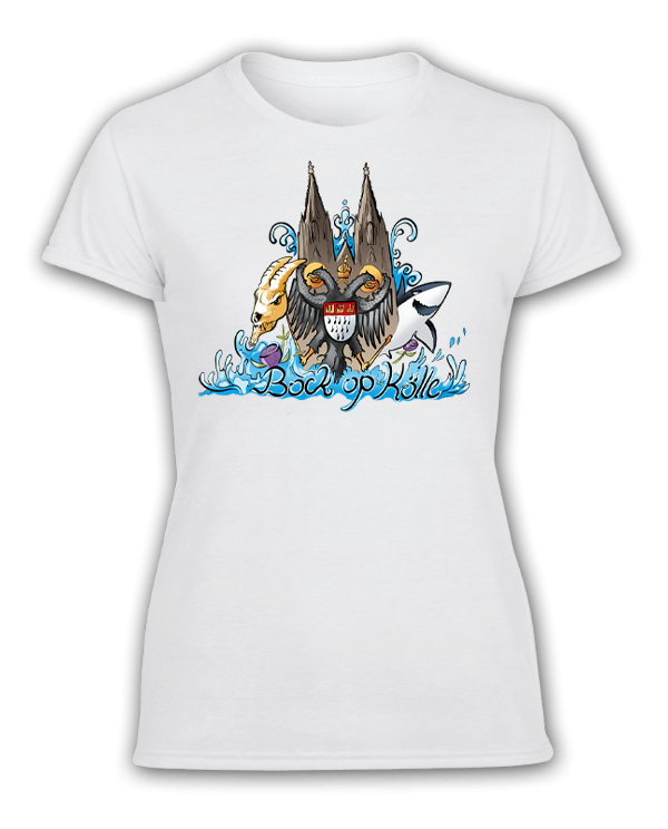 Damen T-Shirt Die Stadt am Rhein