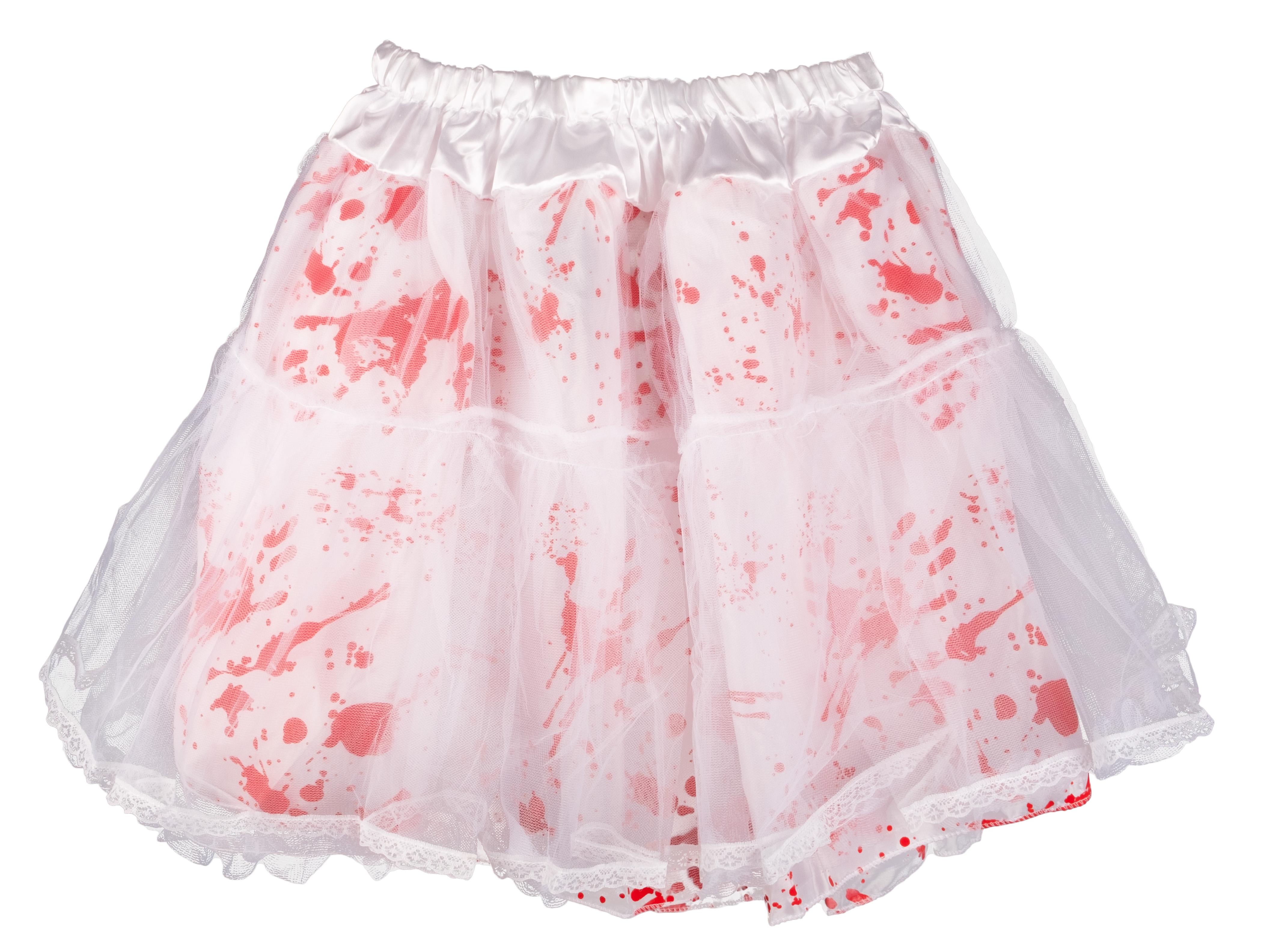 Petticoat 50cm lang weiß mit Blut