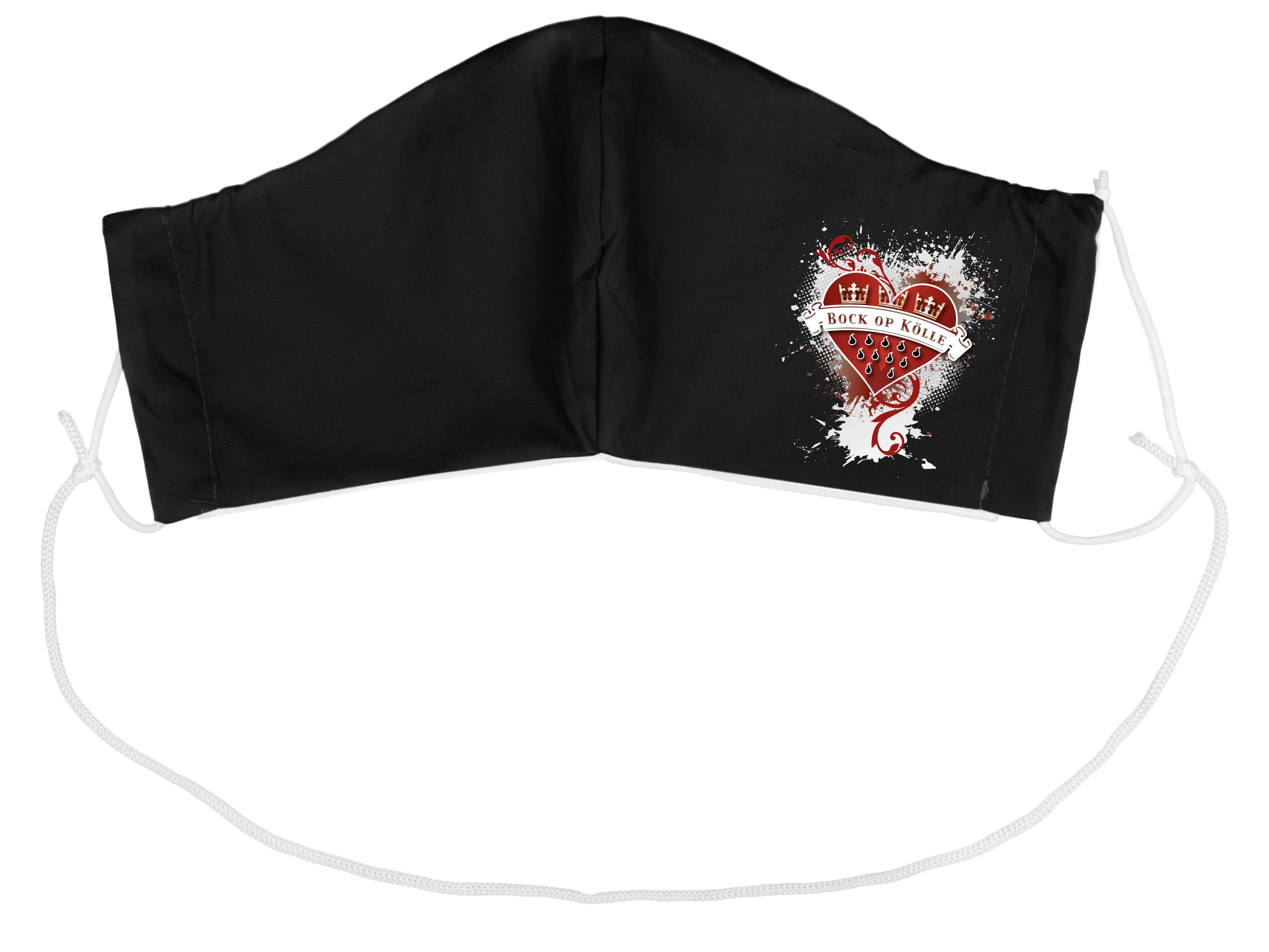 Stoffmaske Bock op Kölle Herz