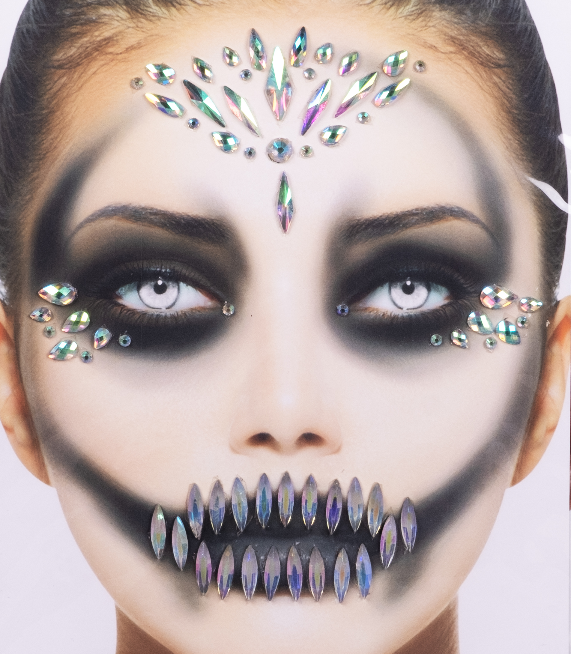 Gesichts-Tattoo Halloween weiß