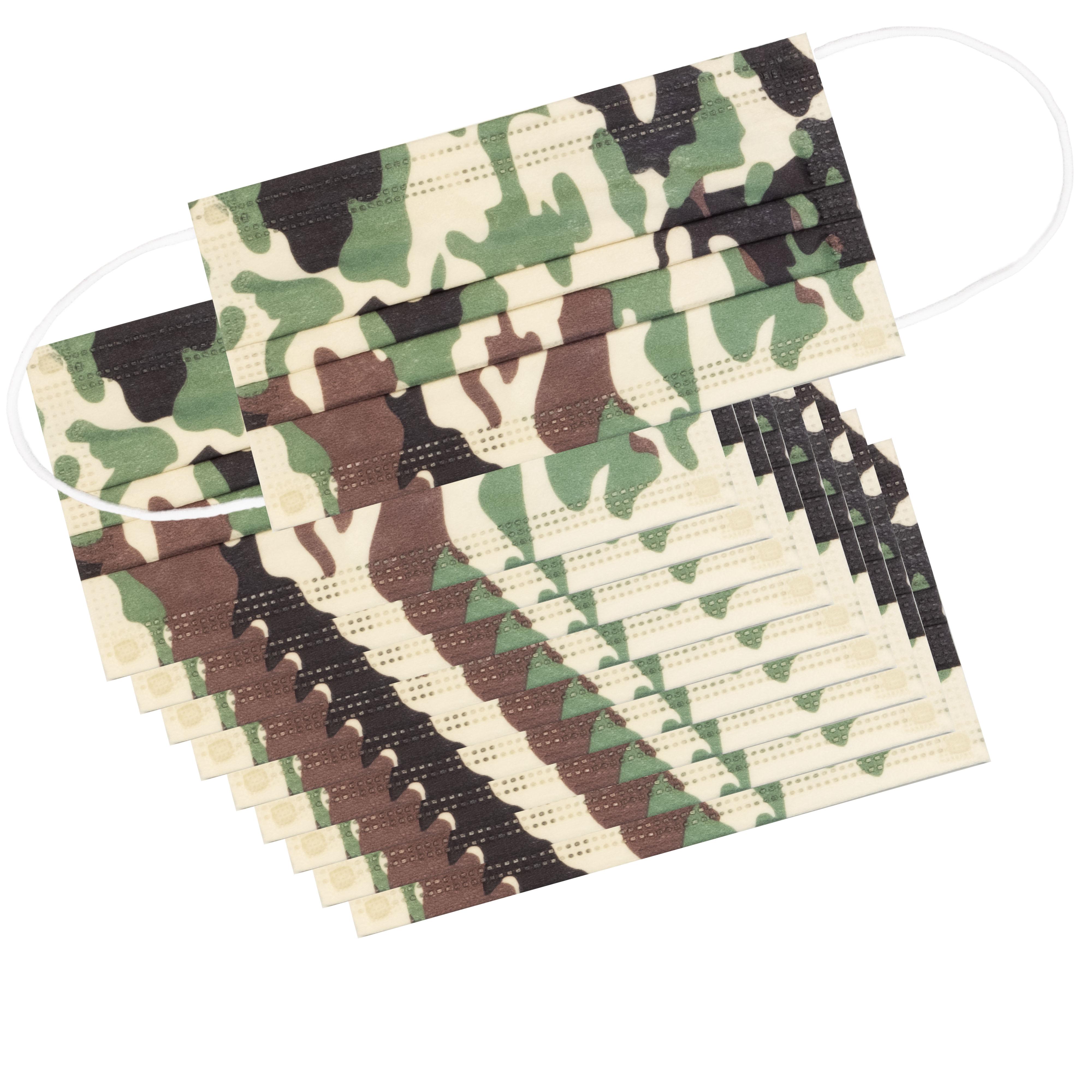 -> MNS 3-lagig Einwegmaske 10er Paket Camouflage