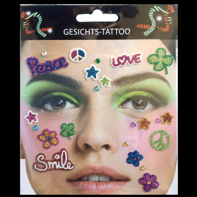 Gesichts-Tattoo Flower Power
