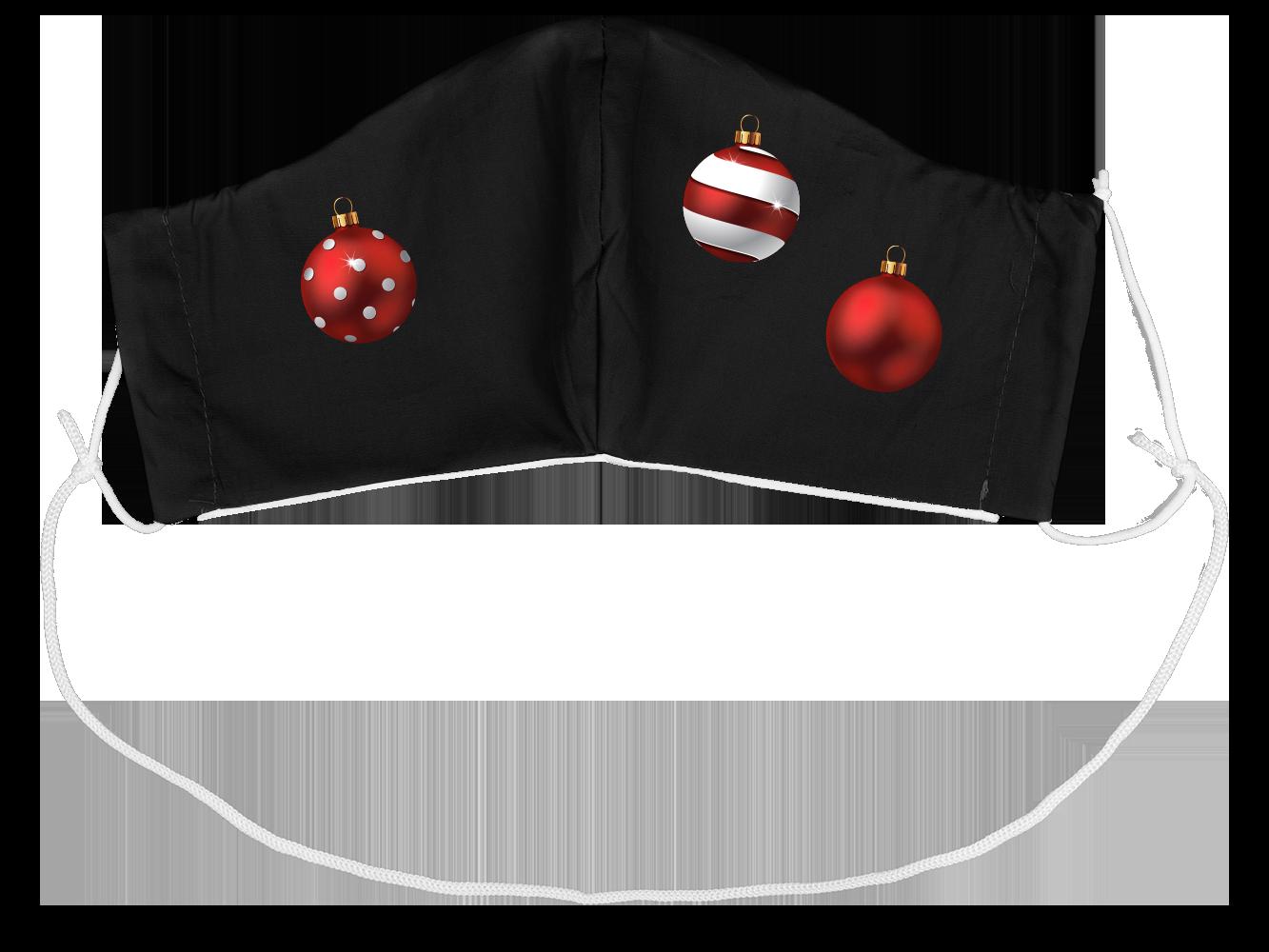 Stoffmaske Frohe Weihnachten Kugeln (groß)